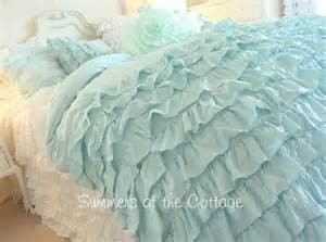king shabby cottage chic layers of dreamy aqua teal