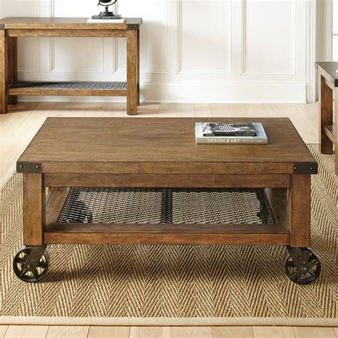coffee table with caster wheels steve silver hailee cocktail table with casters coffee