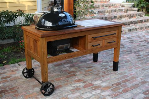 grill table for primo or big green egg grill