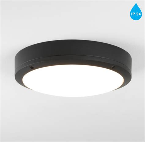 Bathroom Led Ceiling Lights Astro Arta Led Ip54 Bathroom Flush Ceiling Light Wall Light Black Finish With Polycarbonate