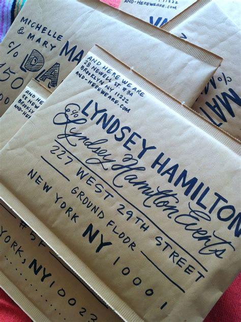 Lettered Envelopes