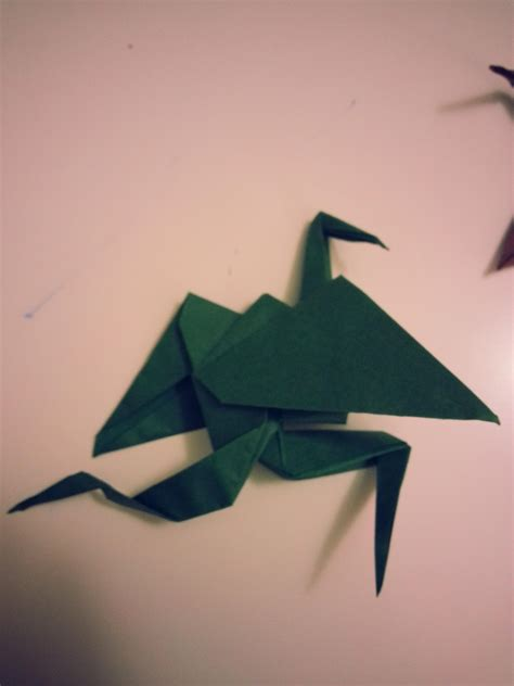 Origami Crane With Legs - does origami