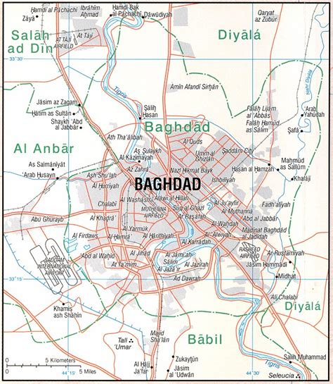 map of baghdad iraq the middle east maps baghdad map