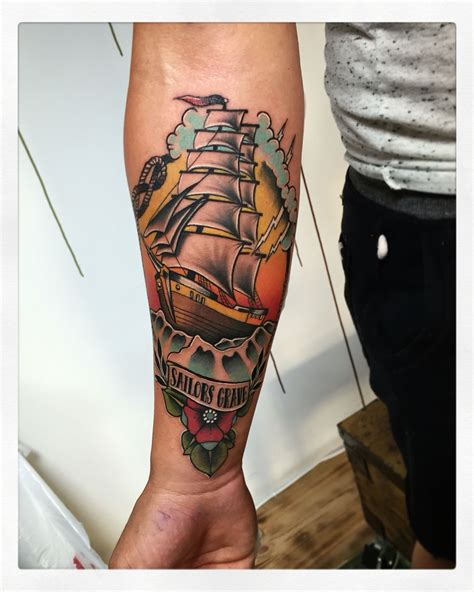 traditional pirate ship tattoo neo traditional pirate ship ink neotraditional