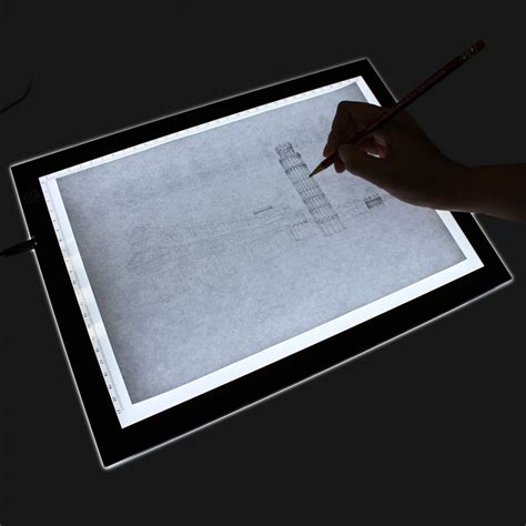 Drawing Light Box by Homcom 19 Quot Led Artist Stencil Board Drawing Tracing