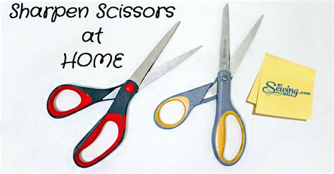 mysewingmall sharpen scissors at home
