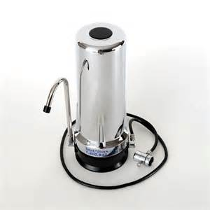best countertop water filtration system chrome countertop water filter by bestfilters with