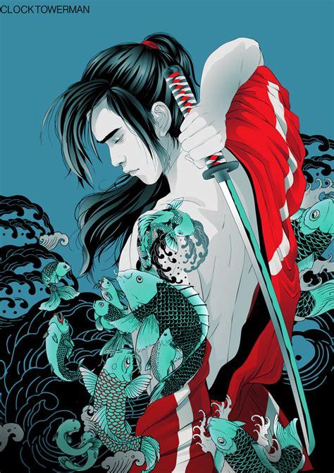 samurai koi by clocktowerman on deviantart