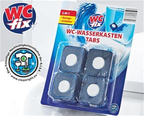 Wc Wasserkasten Reinigen by Wc Fix 174 Wc Wasserkasten Tabs 2in1angebot Bei Aldi S 252 D Kw