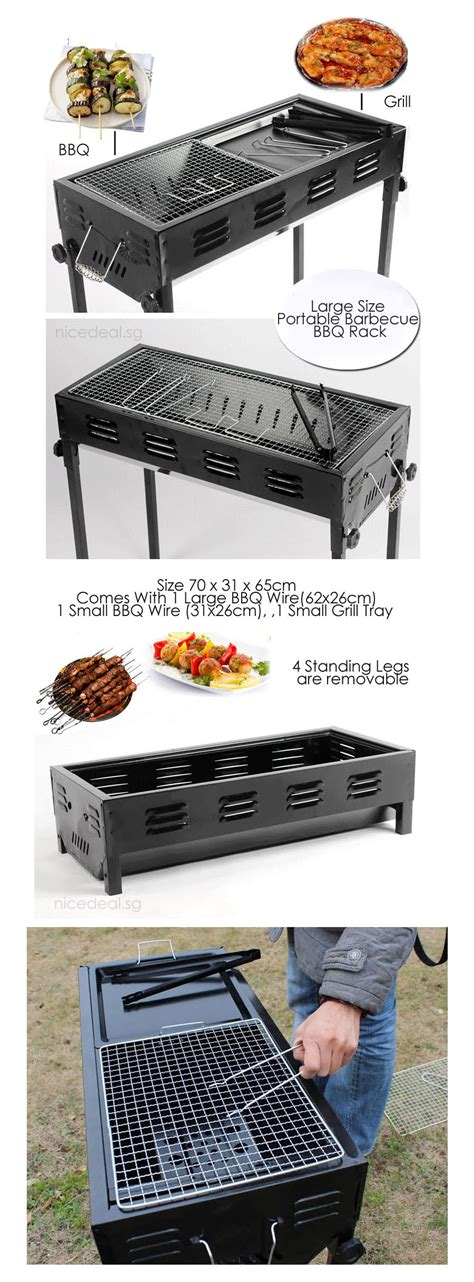buy portable bbq grill rack large size portable barbecue