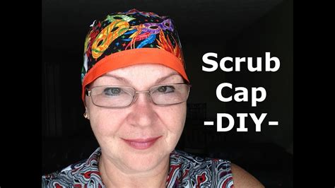 scrub cap pattern    sew diy tutorial youtube
