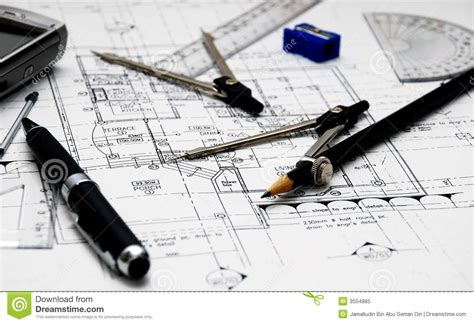 Design Your House Plans by Architect S Tools Royalty Free Stock Photo Image 3554885