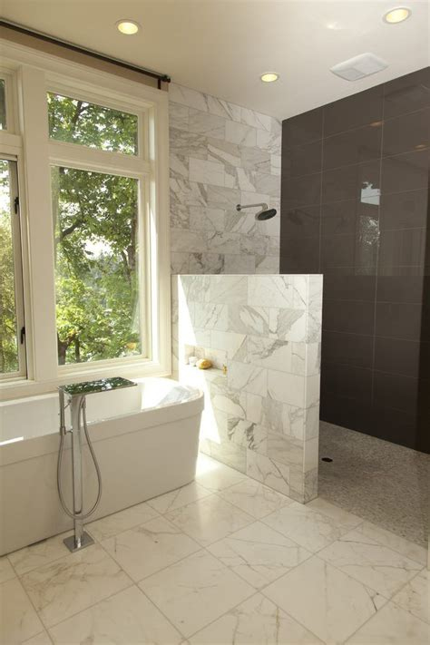 curbless doorless shower bathroom contemporary  wood