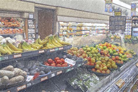 produce section supermarket supermarket produce section by david zanzinger