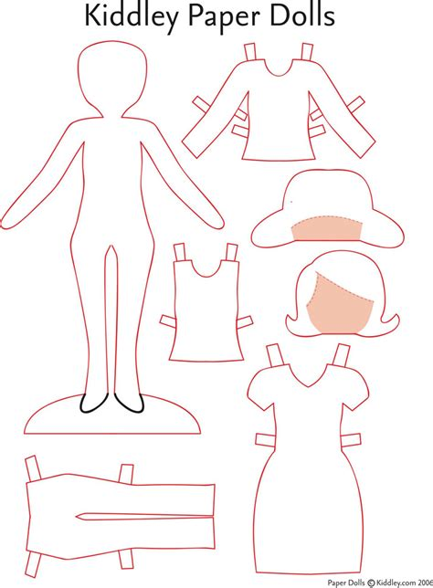 template for paper dolls paper doll template free premium templates