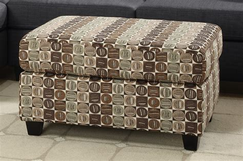 brown fabric ottoman poundex maribel f7747 brown fabric ottoman steal a sofa