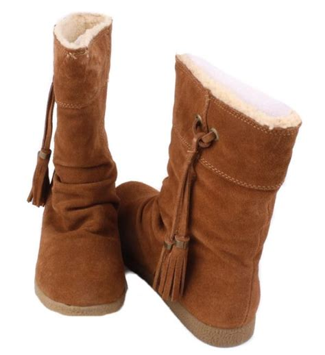nine west marley womens chestnut suede leather mid calf