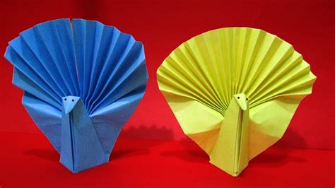 Lined Paper Origami - how to make origami peacock origami animals easy paper