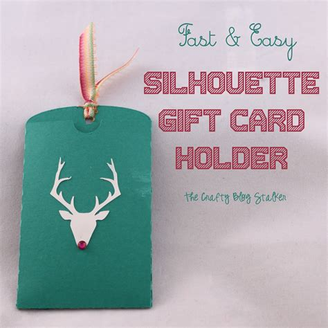 Fast Card Gift Card - fast easy silhouette gift card holder the crafty blog