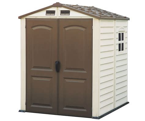 Vinyl Shed Kits by Duramax Sheds Storemate 6x6 Vinyl Shed Kit W Floor 30411