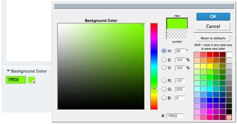 color selection automating css changes with expressionengine graybox