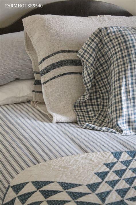pillow ticking bedding farmhouse 5540 eli s room