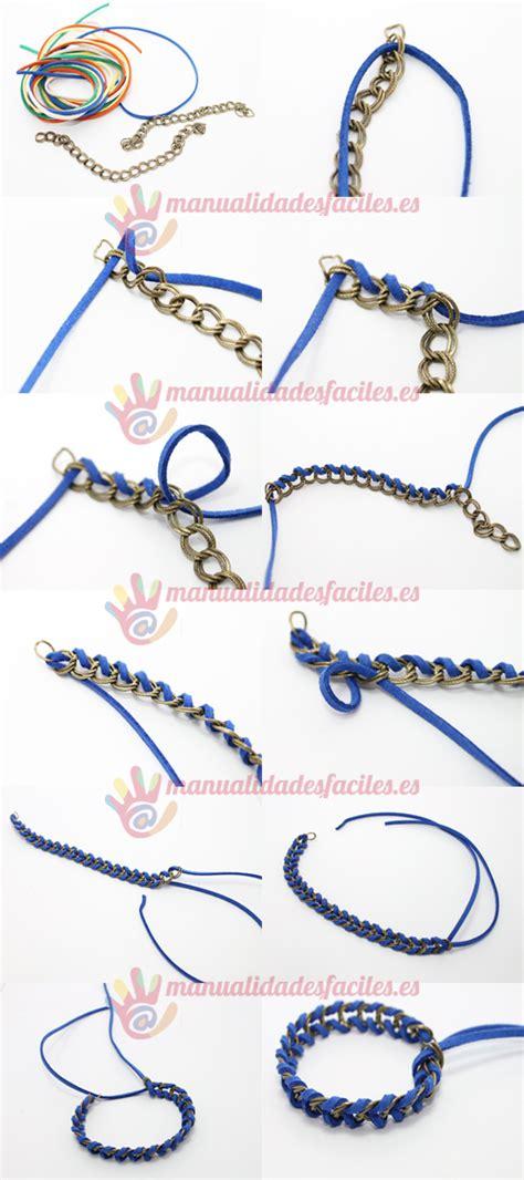 como hacer cadenas para parejas pulsera facil de cord 243 n y cadena diy manualidades