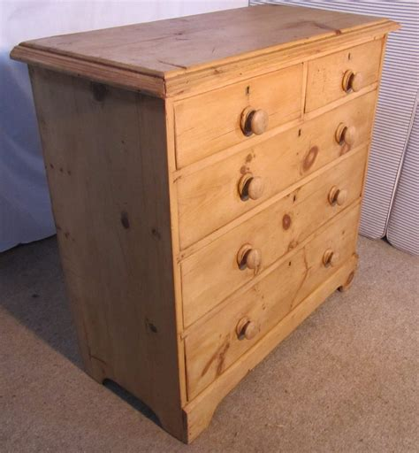 Waxed Pine Chest Of Drawers stripped waxed georgian pine chest of drawers antiques atlas