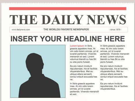 newspaper article template for kids