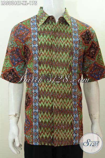Baju Pria Pakaian Busana Kemeja Pendek Motif Batik Murah 11 busana batik kerja pria dewasa size xl kemeja lengan pendek motif terkini warna moden bahan