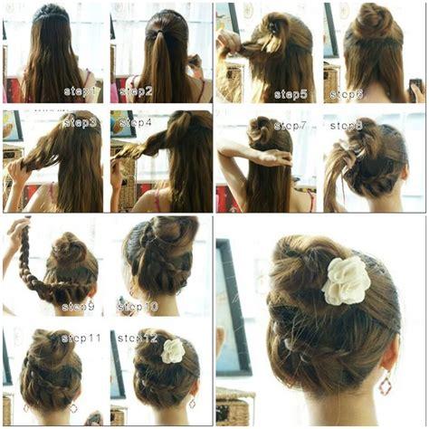 beautiful french braids updo hairstyle