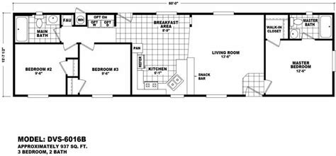 single line floor plan value 6016b 3 bed 2 bath 937 sqft affordable home for