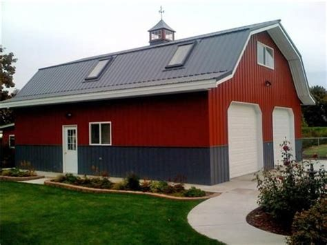 gambrel pole barn by barns and buildings chicken coop garden shed large classic gambrel barn style garage class metal