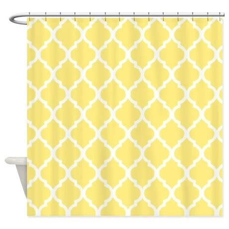 yellow quatrefoil pattern lemon yellow quatrefoil pattern shower curtain by