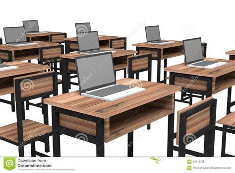 Laptop Desk White Computer Room Stock Illustration Image 64115766