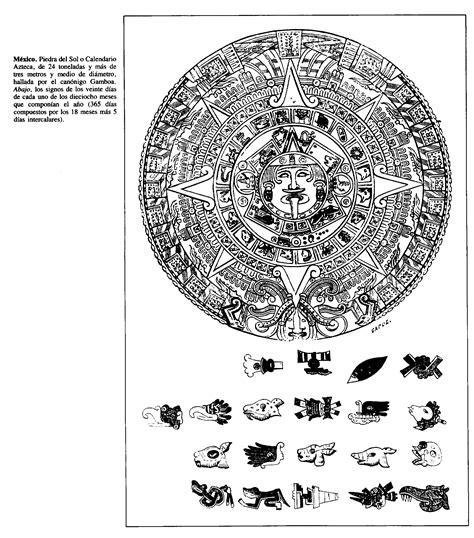Como Leer El Calendario Azteca M 233 Xico Piedra Sol O Calendario Azteca De 24