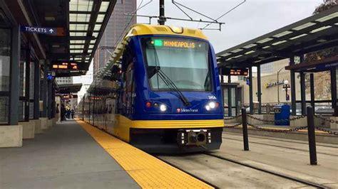 metro transit light rail light rail between target field and u s bank stadium back