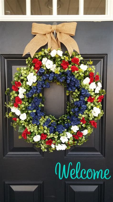 patriotic wreaths for front door 25 best ideas about patriotic wreath on 4th