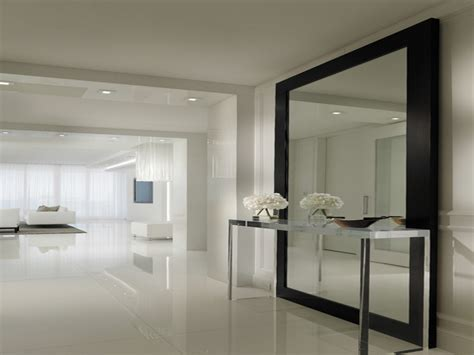 mirrors  metal frames contemporary hallway mirrors
