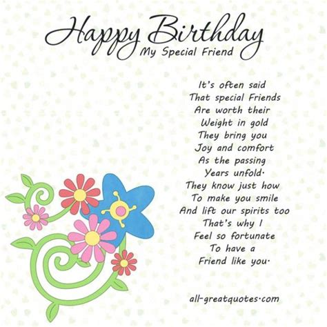 Birthday Card Messages For Friends Happy Birthday To A Special Friend Happy Birthday Images