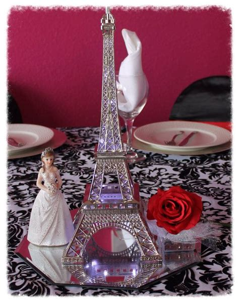 eiffel tower centerpieces for quinceaneras centerpiece light up eiffel tower by itsmy15party on