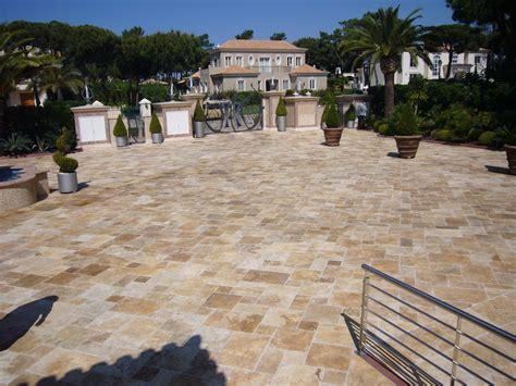 terrasse travertin calcaire et quartzite