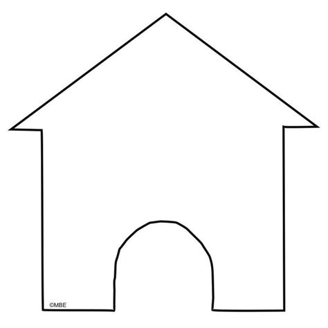 printable school house template free dog stencils to print and cut out