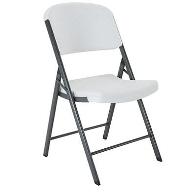 Sams Club Folding Chairs by Lifetime Commercial Grade Contoured Folding Chair White