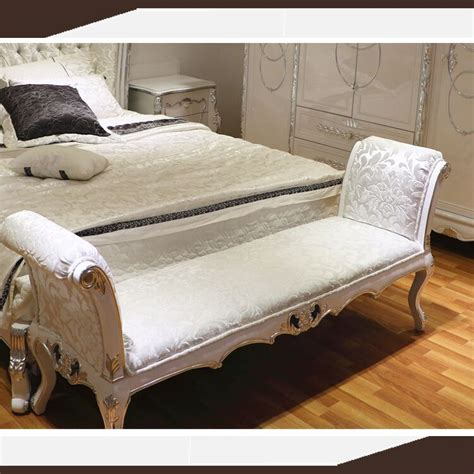 white silver leaf european bedroom furniture