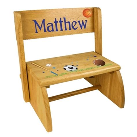 Personalized Step Stool Chair by Personalized Step Stools Simplyuniquebabygifts
