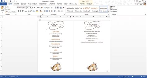 microsoft office menu template best free thanksgiving templates for microsoft office