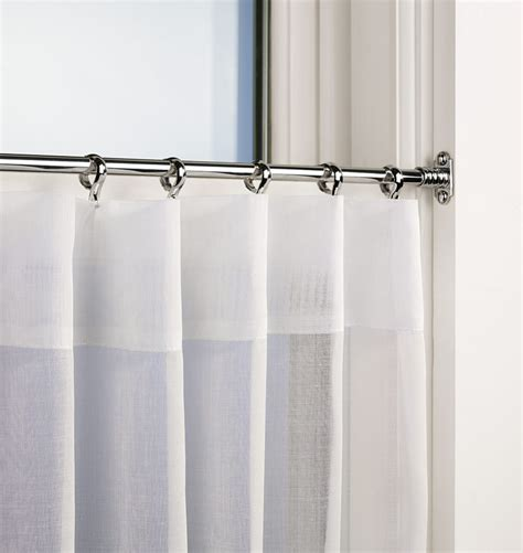 rod curtains cafe curtain rods homesfeed