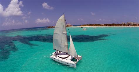catamaran in cancun mexico isla mujeres all inclusive full day catamaran tour