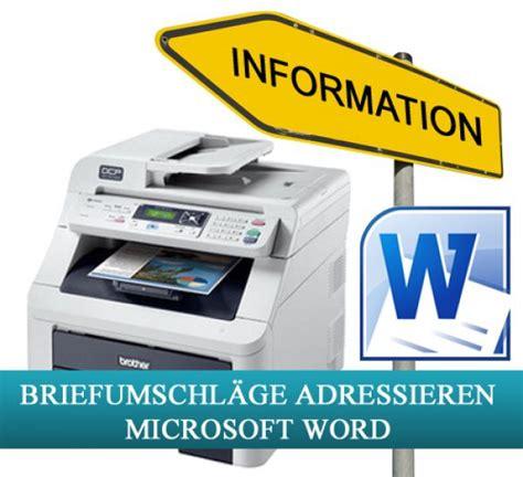 Brief Etiketten Mit Word Drucken by Adressetiketten F 252 R Briefumschl 228 Ge Mit Mcrosoft Word